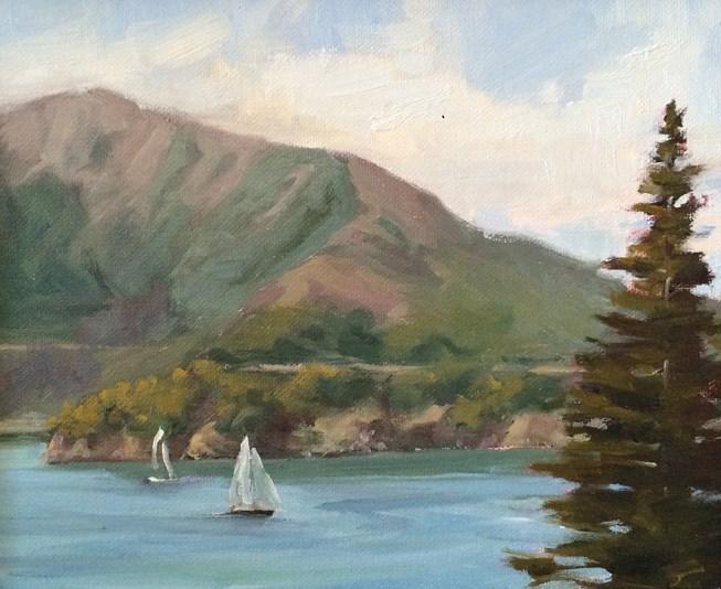 """Angel Island"" original fine art by Deborah Newman"