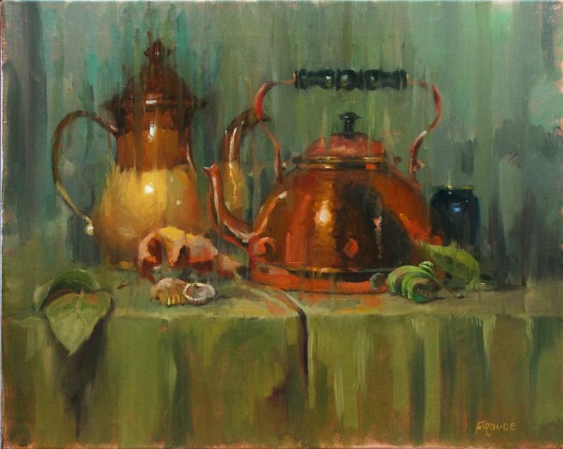 """""""Green rain"""" original fine art by Dave Froude"""