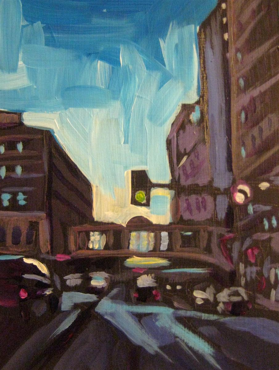 """Early on 9th Street"" original fine art by Kat Corrigan"