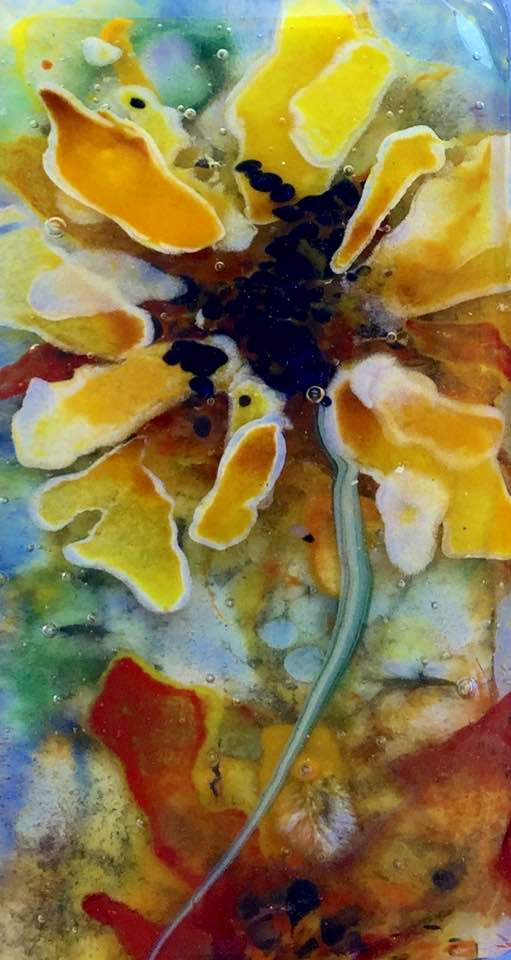 """sunflowers deep"" original fine art by Kristen Dukat"