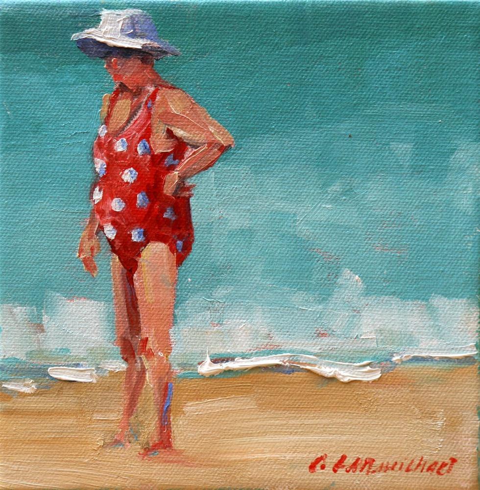 """beach cammo"" original fine art by Carol Carmichael"