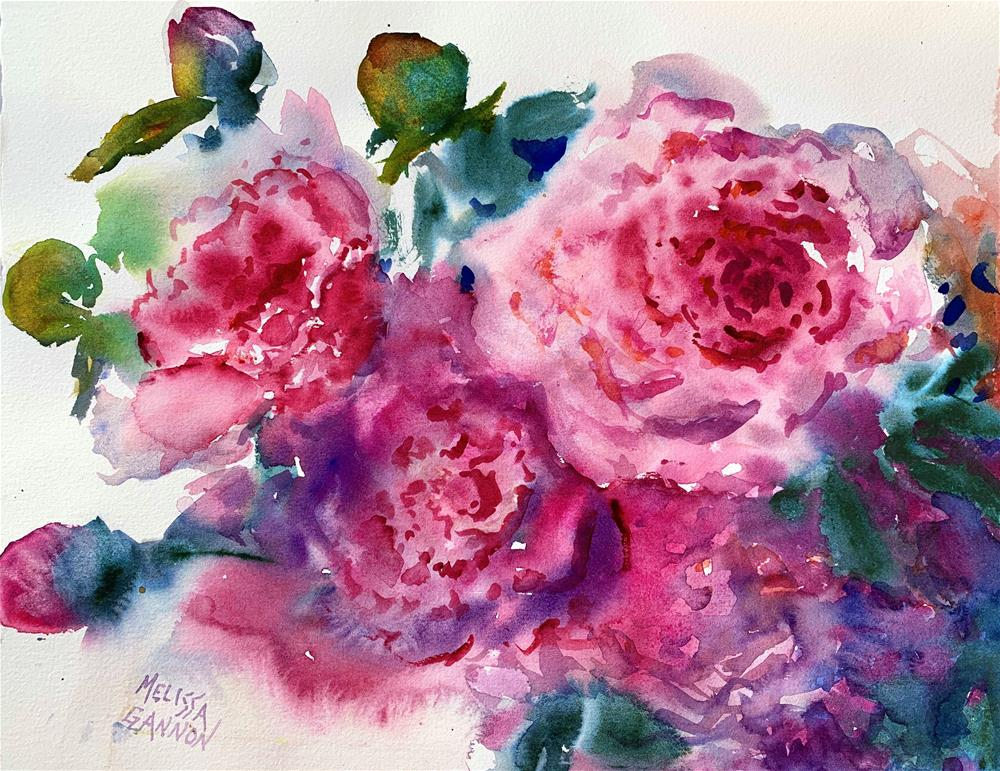 """Joyful Peonies"" original fine art by Melissa Gannon"