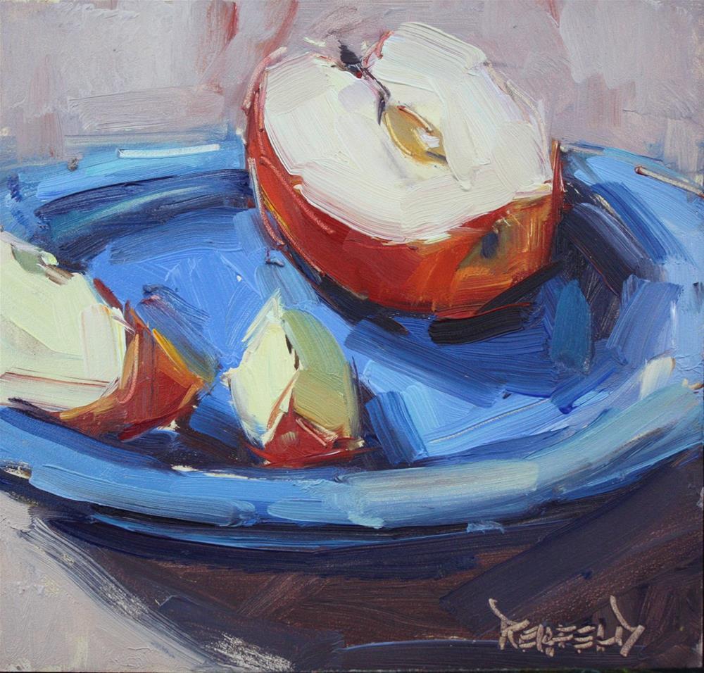 """I Love Apples"" original fine art by Cathleen Rehfeld"