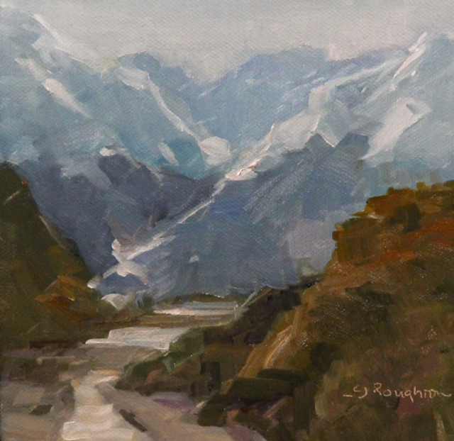 """Reese Valley, New Zealand"" original fine art by C J Roughton"