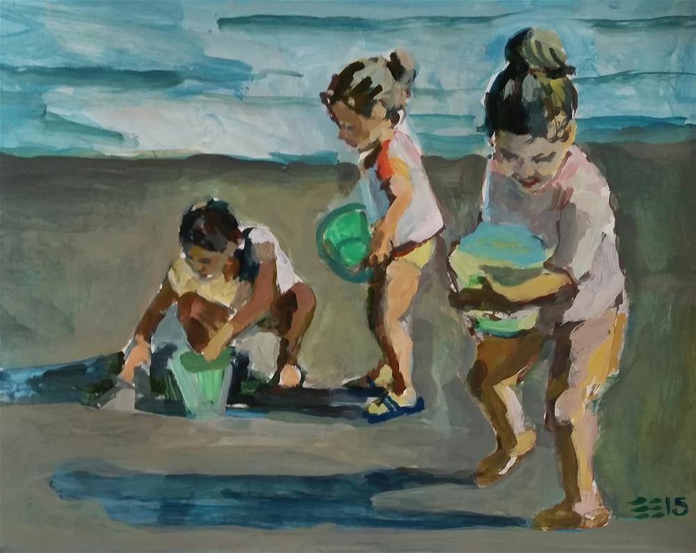 """Beach Scene"" original fine art by Liz Maynes"