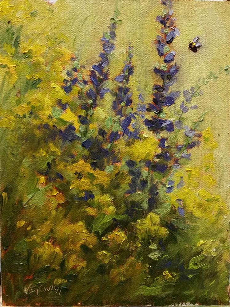 """""""Wildflowers-en Plein Air"""" original fine art by Veronica Brown"""