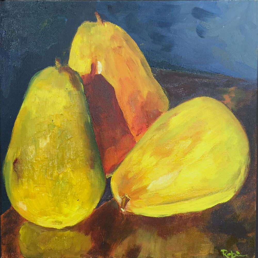"""Pear Trio"" original fine art by Renee Robison"