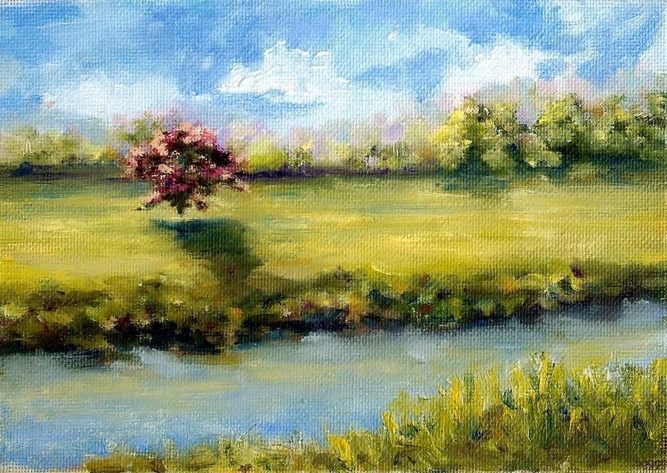 """Canal View"" original fine art by Maria Levandowski"