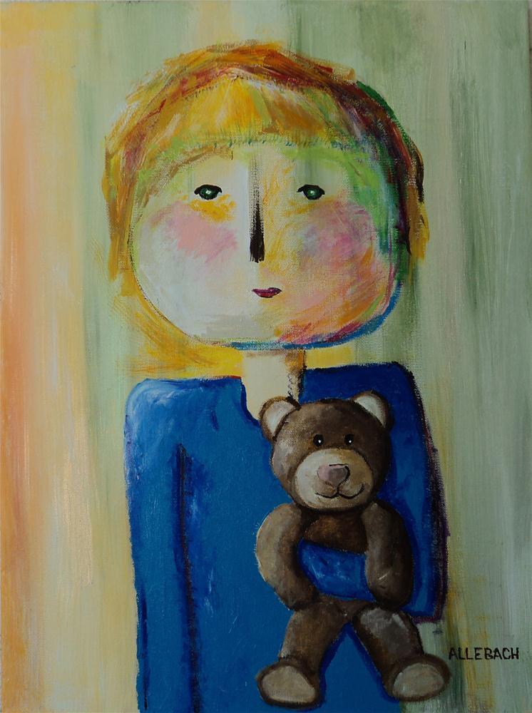 """""""Marcie's Little Sister"""" original fine art by Jo Allebach"""