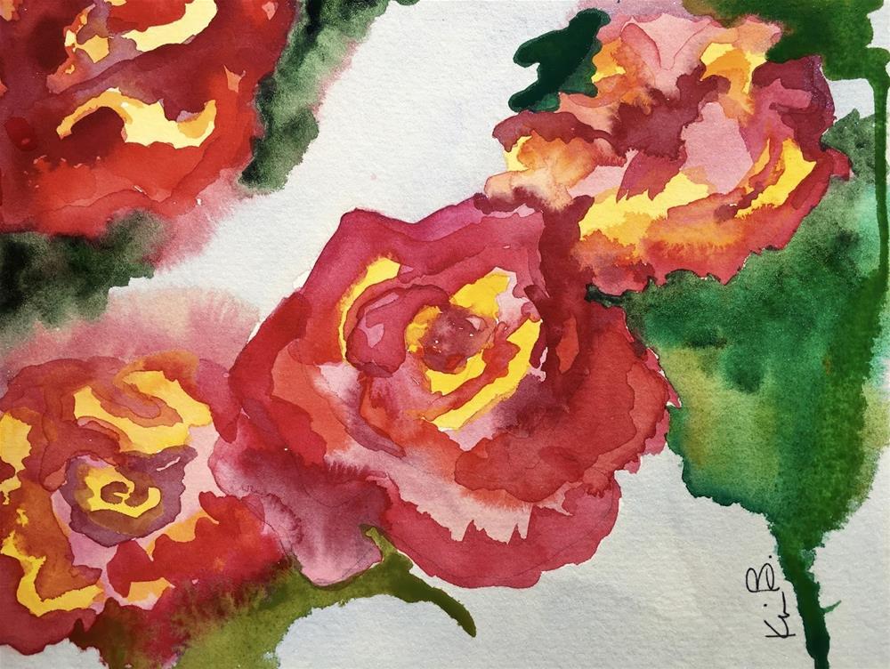 """#29 - #30in30 Blood Red"" original fine art by Kimberly Balentine"
