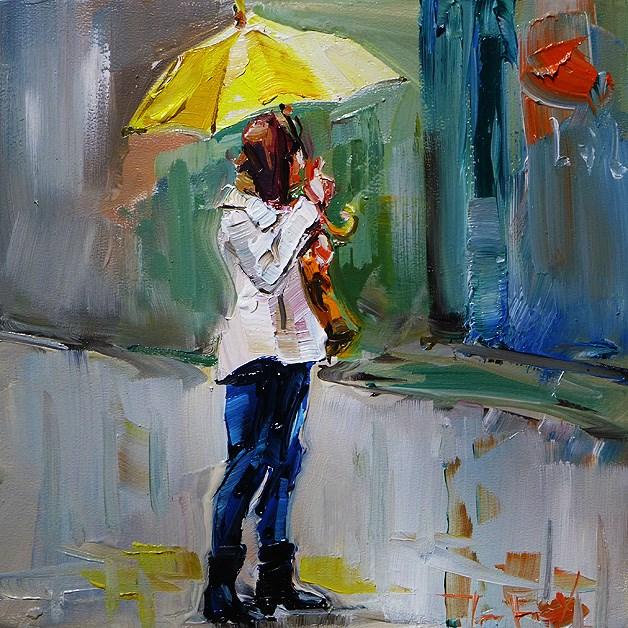 """rain"" original fine art by Jurij Frey"