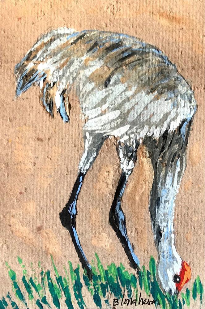 """""""Sandhill Crane"""" original fine art by Linda Blondheim"""