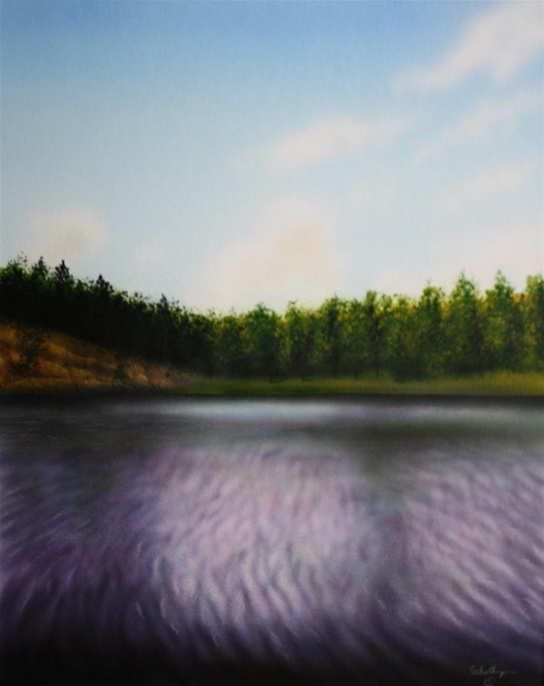 """Sheridan Lake"" original fine art by Fred Schollmeyer"