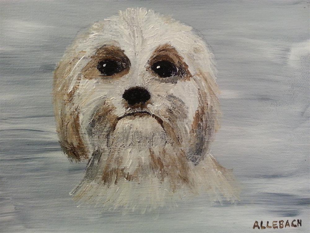 """""""Max the Dog"""" original fine art by Jo Allebach"""