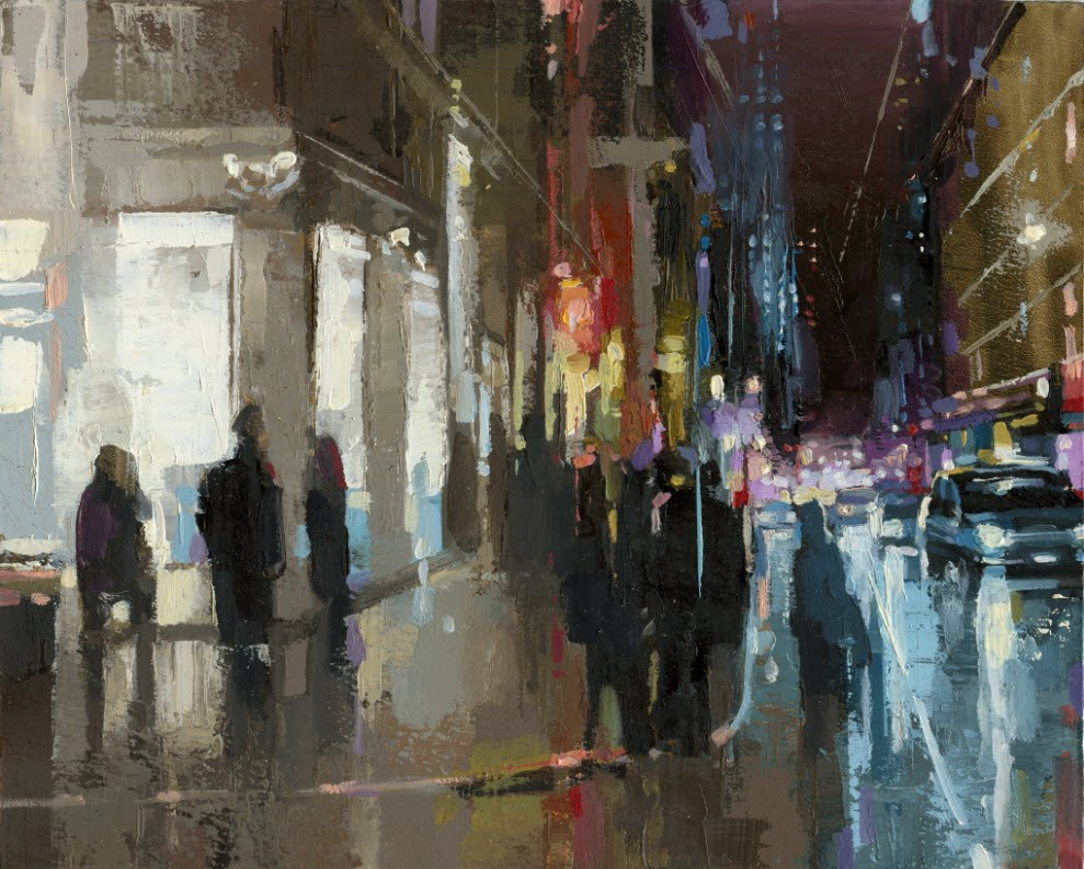"""Soho Prince & Greene St."" original fine art by Victor Bauer"