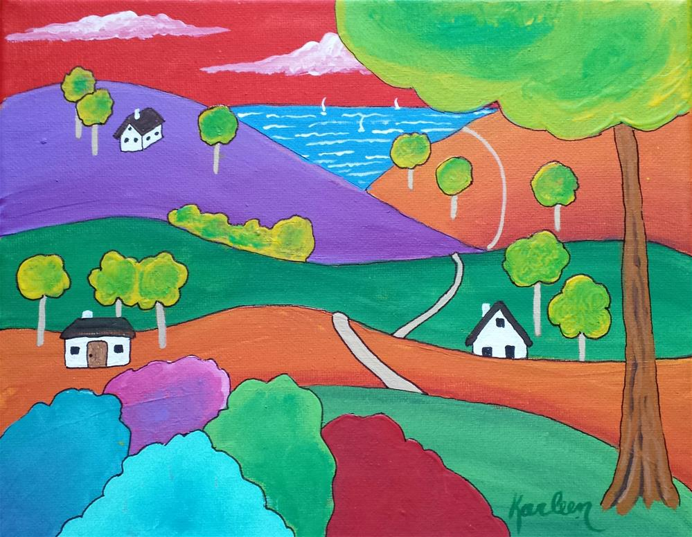 """Country Road"" original fine art by Karleen Kareem"