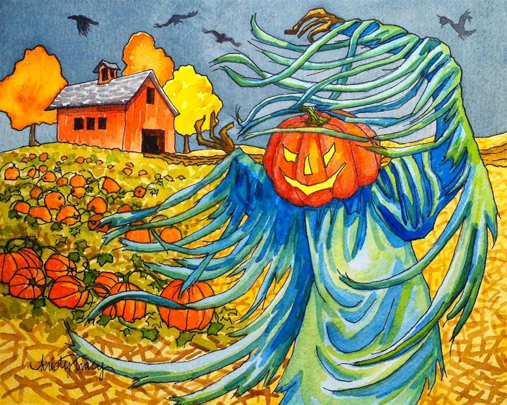 """""""THE SUMMONING OF THE SQUASH"""" original fine art by Kristy Tracy"""