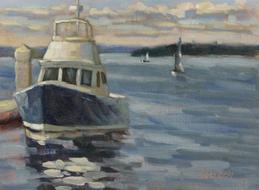 """Docked"" original fine art by Colleen Parker"