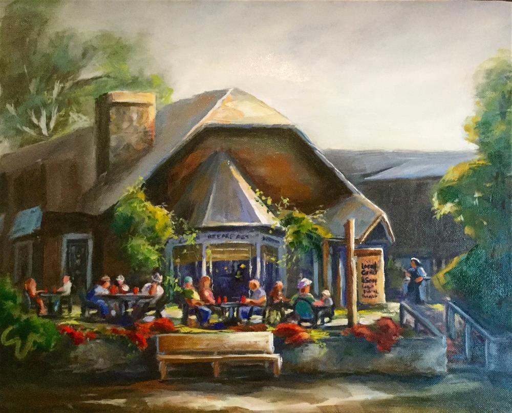 """""""The Local Grill and Scoop"""" original fine art by Sharon Abbott-Furze"""
