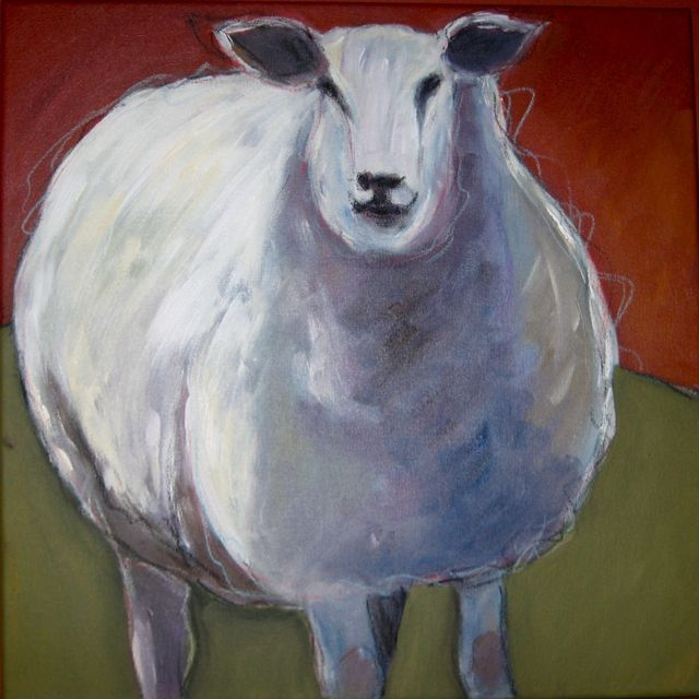 """""""Wooly Bully"""" original fine art by Patricia MacDonald"""