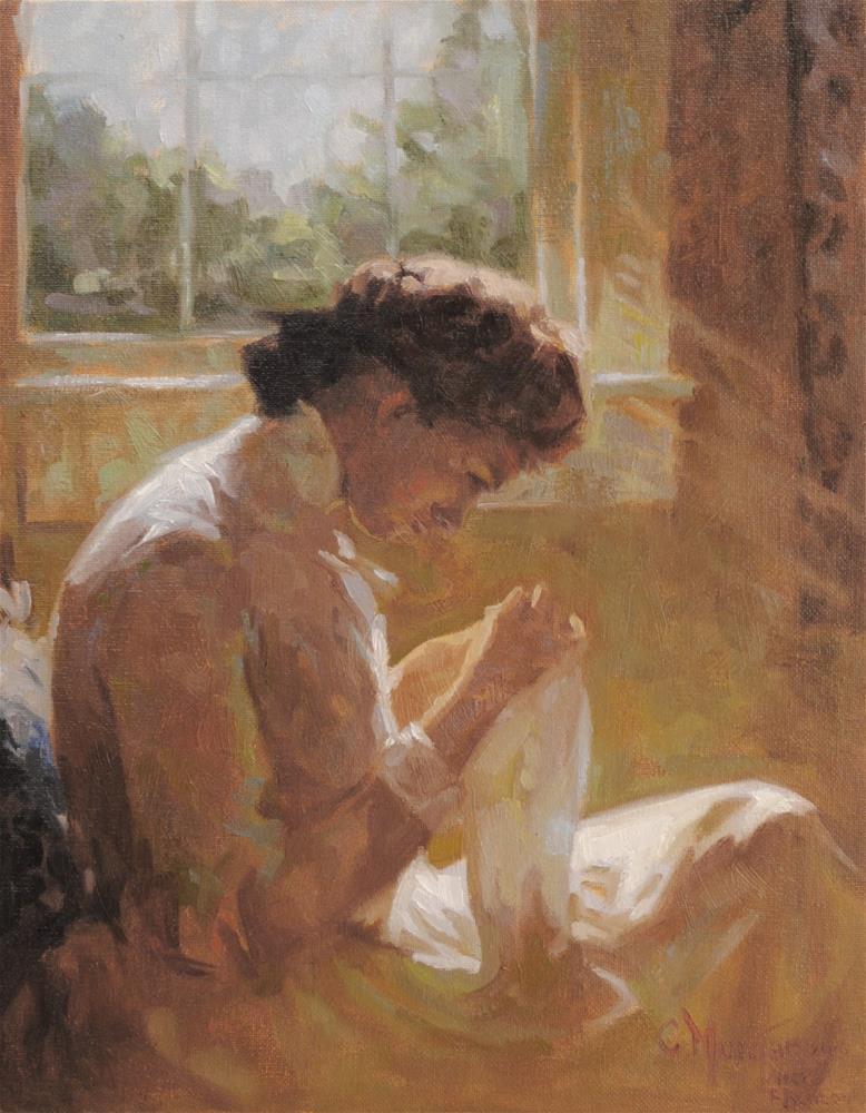 """After Frank Benson"" original fine art by Cecile W. Morgan"