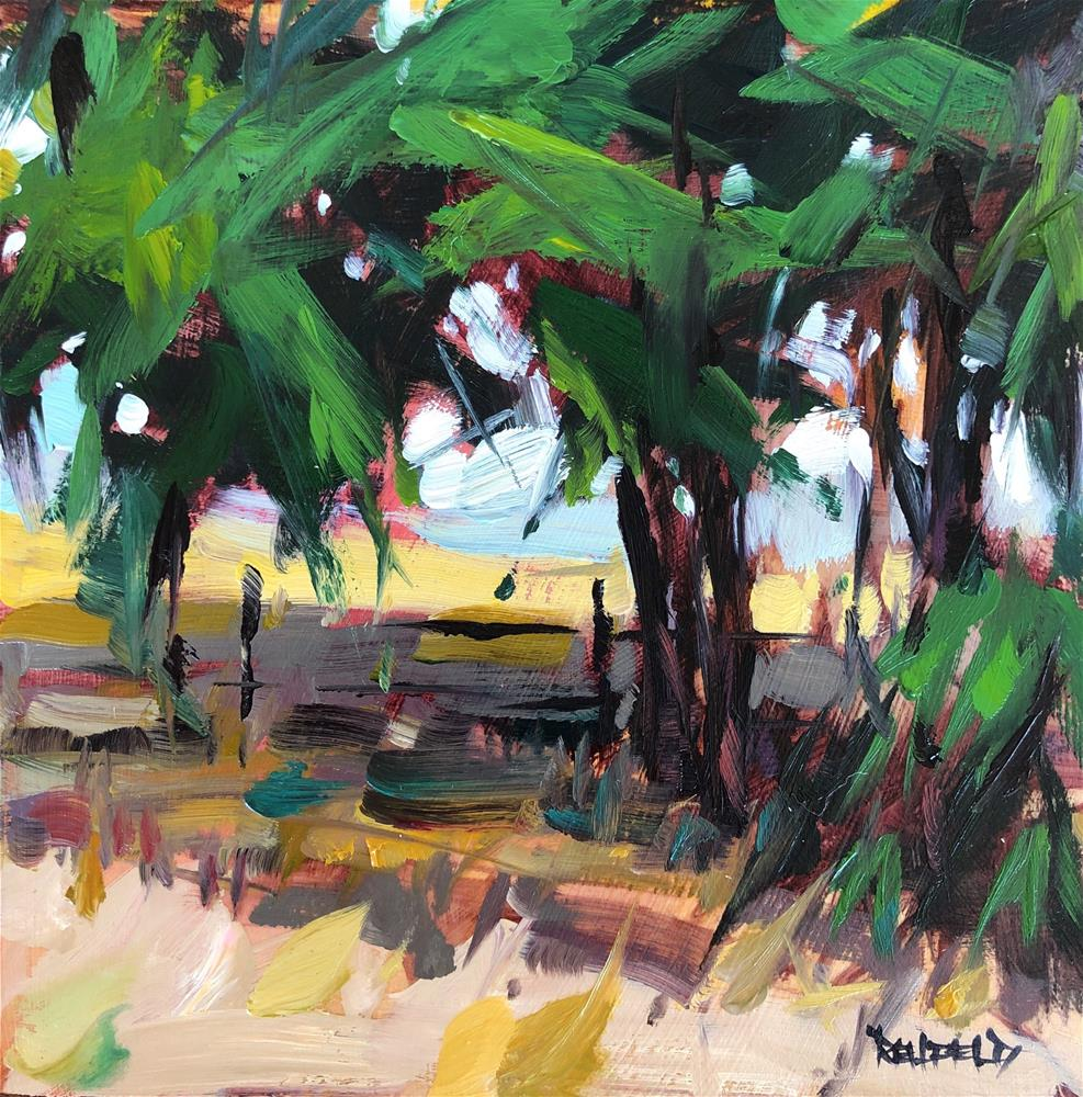 """Desert Trees Grow Wild 2"" original fine art by Cathleen Rehfeld"