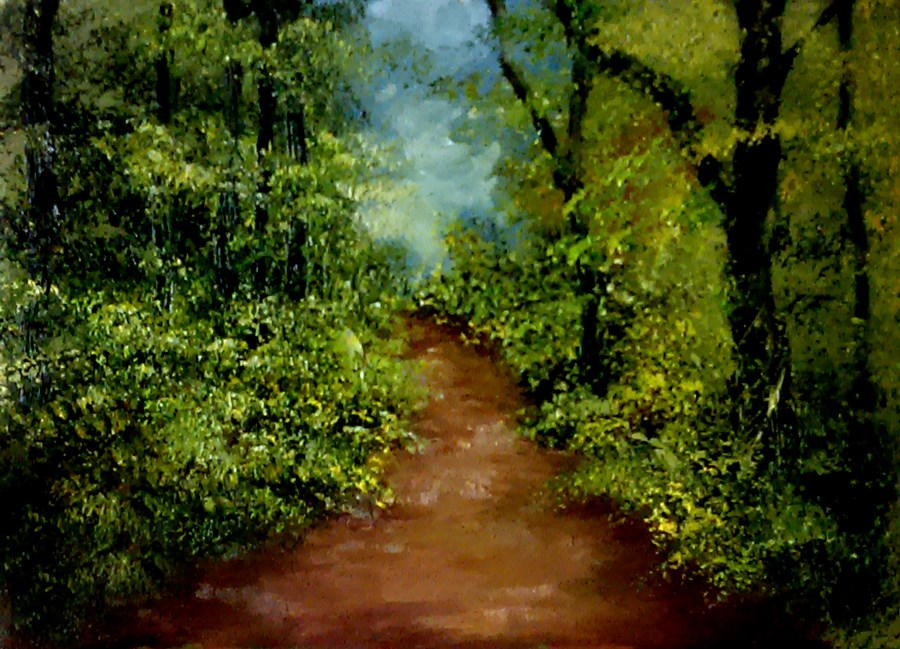 """""""A Path in the Woods"""" original fine art by Bob Kimball"""