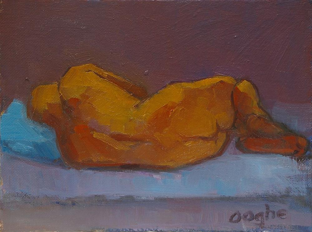 """Male Nude Reclining Back"" original fine art by Angela Ooghe"