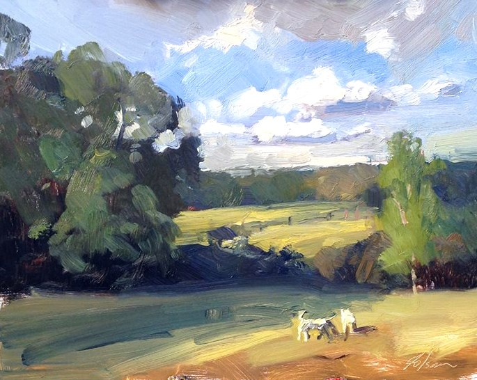 """Two White Horses"" original fine art by Kelli Folsom"