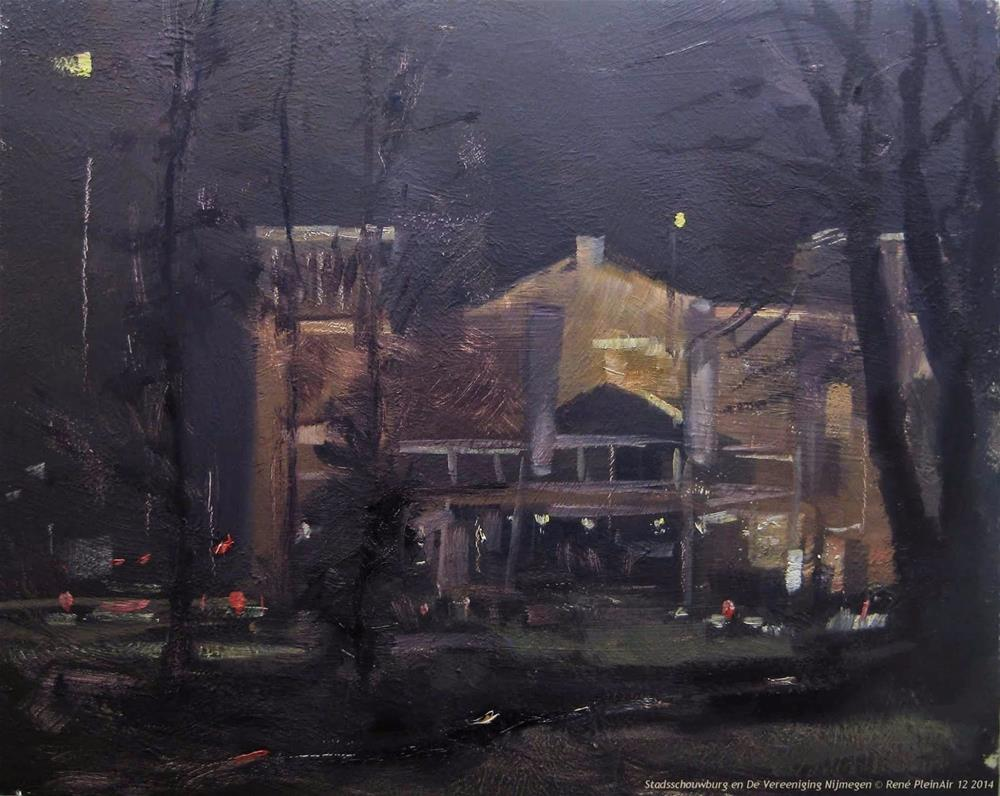 """""""Stadsschouwburg en De Vereeniging Nijmegen The Netherlands"""" original fine art by René PleinAir"""