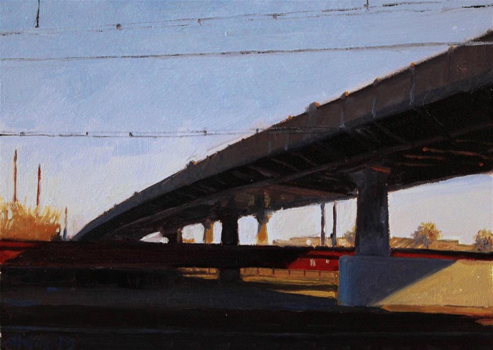 """The Bridge"" original fine art by Ski Holm"