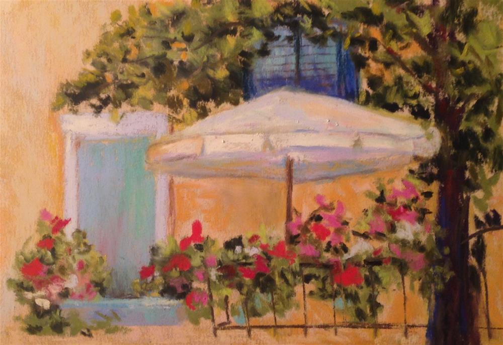 """""""Dievole Chianti Patio"""" original fine art by Angeli Petrocco Coover"""
