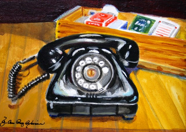 """The R. Phone"" original fine art by JoAnne Perez Robinson"