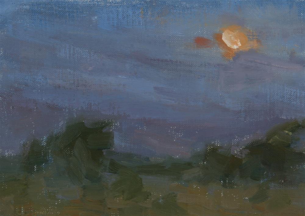 """Moon Study - Morning"" original fine art by Scott Serafica"