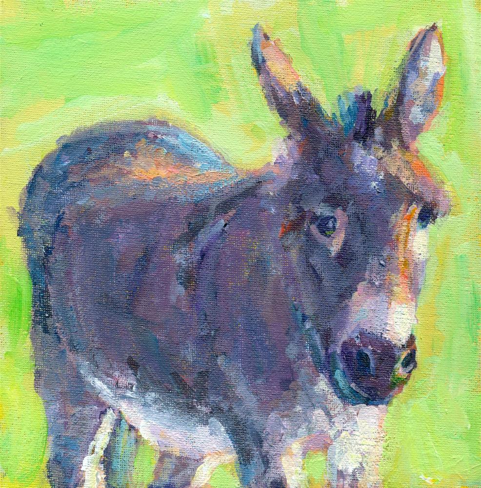 """""""winky wonky donkey"""" original fine art by Shelley Garries"""