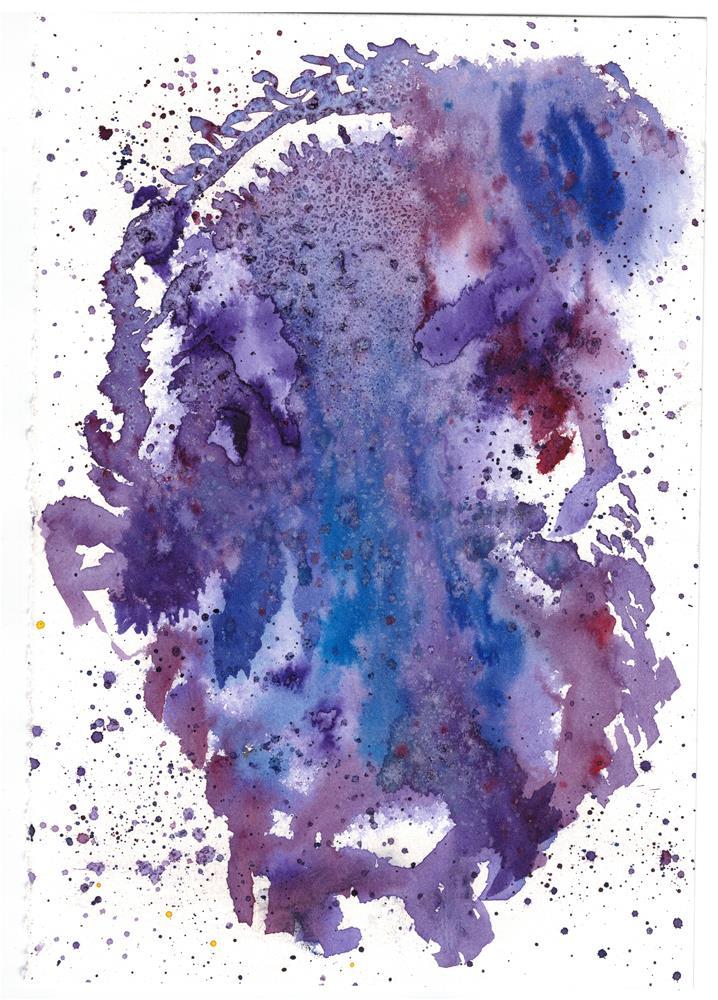 """Nebula Sudy 2"" original fine art by Donna Vieth"