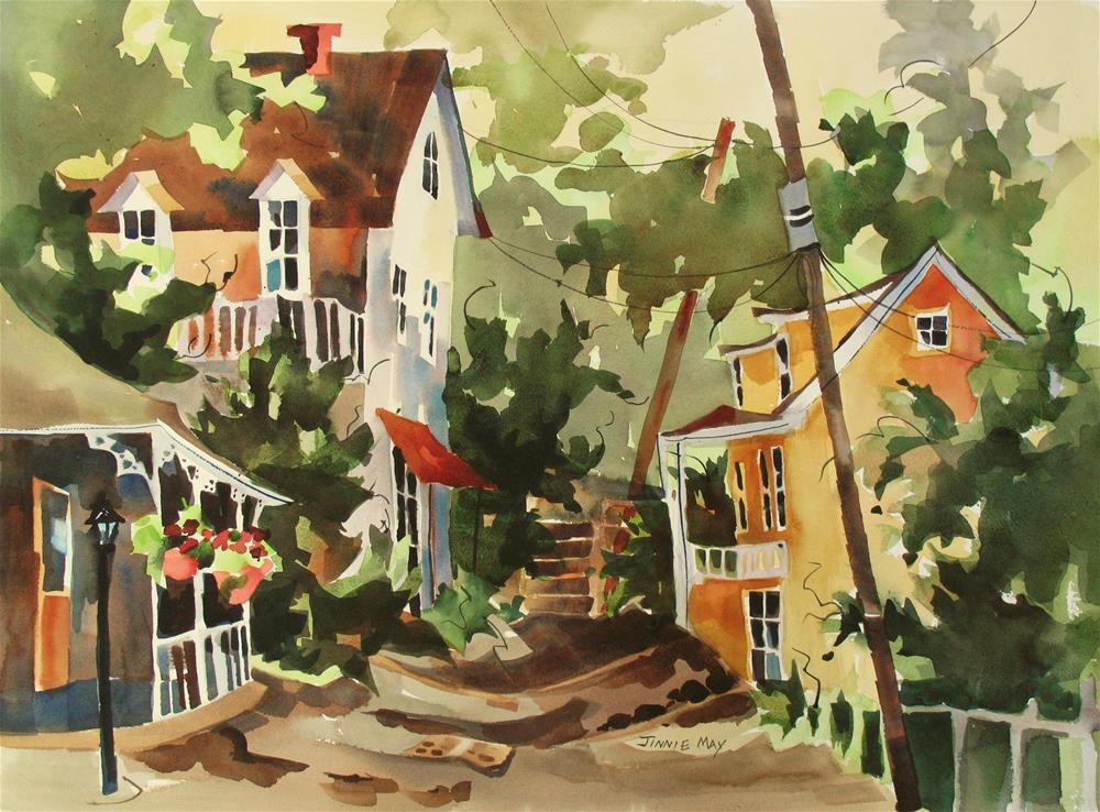 """Provincetown, MA"" original fine art by Jinnie May"