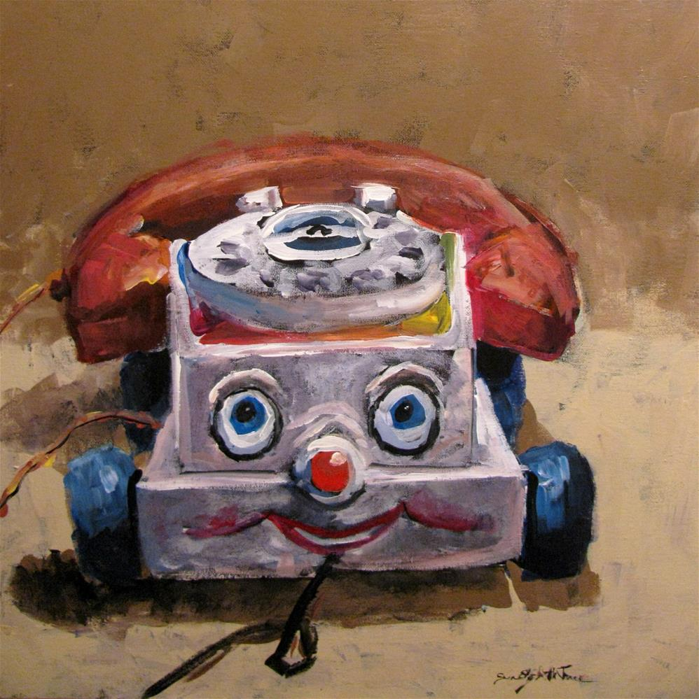 """Chatterbox"" original fine art by Susan Elizabeth Jones"