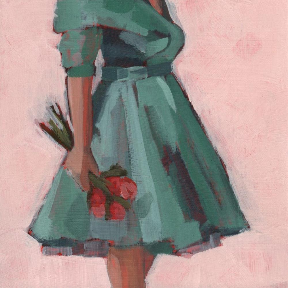 """So you brought me flowers… (#365)"" original fine art by Debbie Miller"