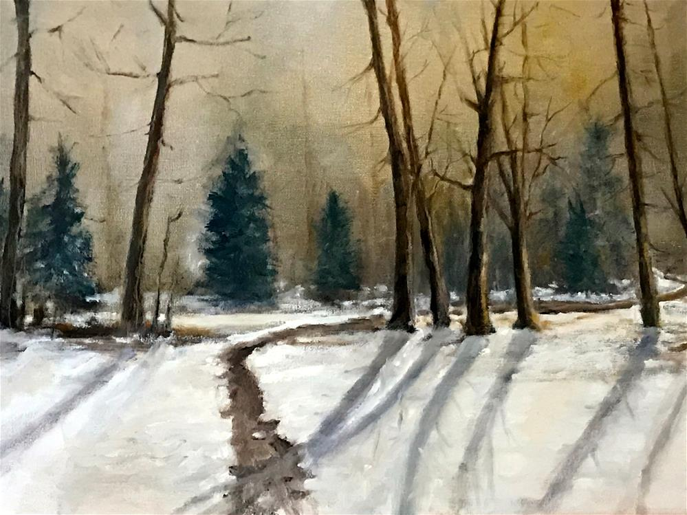 """winter in the woods"" original fine art by Betty Argiros"