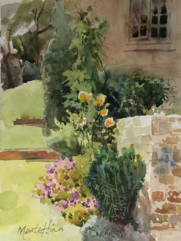 """Garden Wall"" original fine art by Marita Hines"