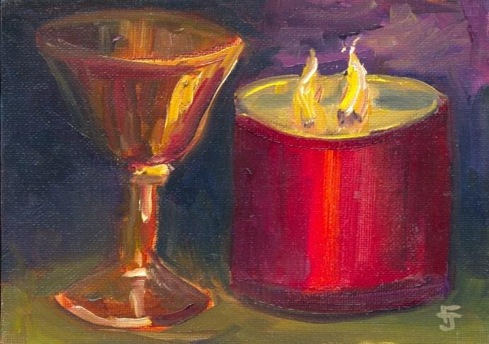 """Midnight Contemplation"" original fine art by Francine Dufour~Jones"