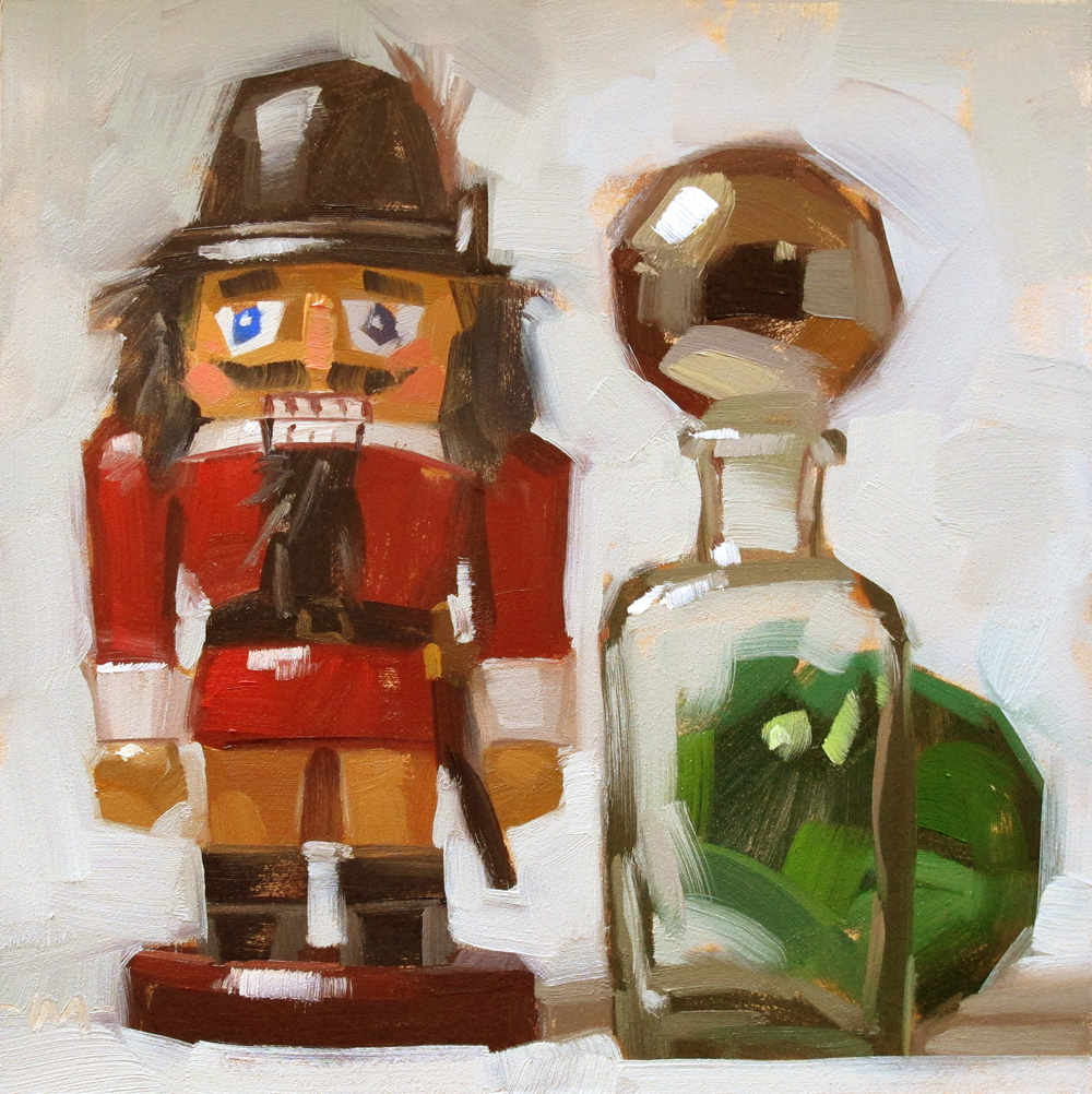 """Nutcracker Balls"" original fine art by Carol Marine"