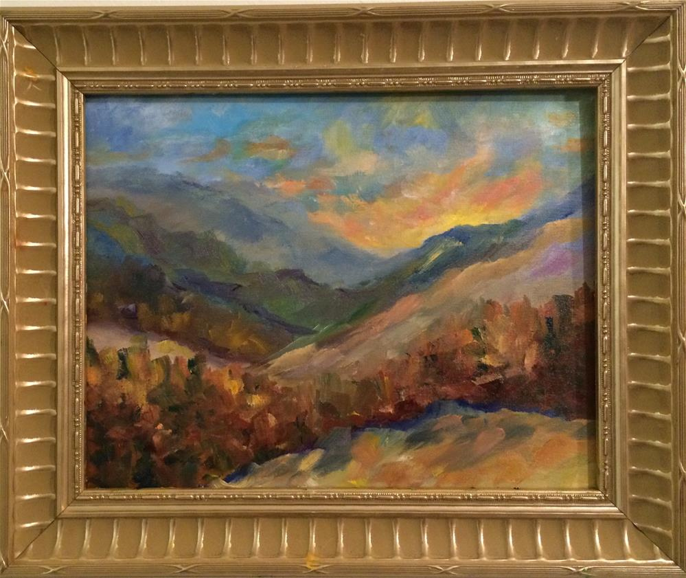 """Prestine Mountains"" original fine art by Ramya Sarveshwar"