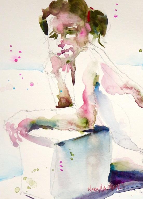 """the last short pose"" original fine art by Nora MacPhail"