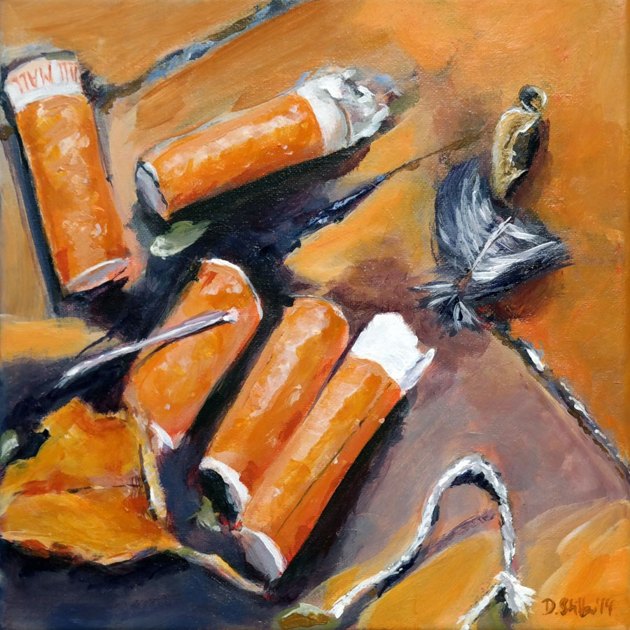 """0887 Cigs"" original fine art by Dietmar Stiller"