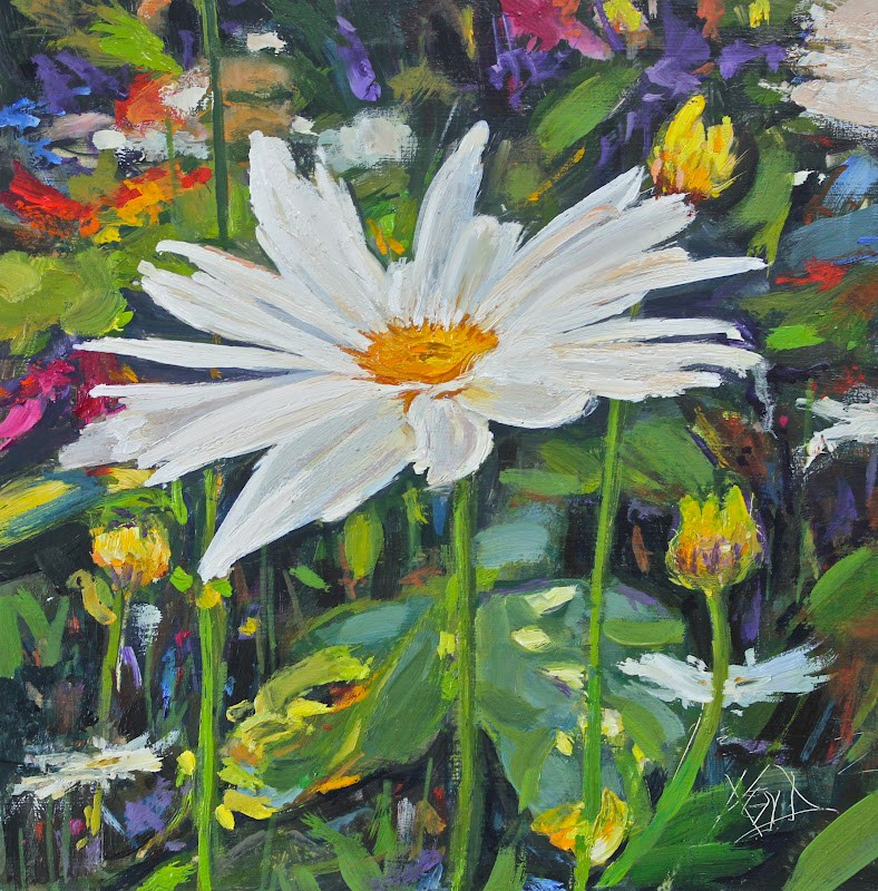 """Daisy Lady"" original fine art by Ken Devine"
