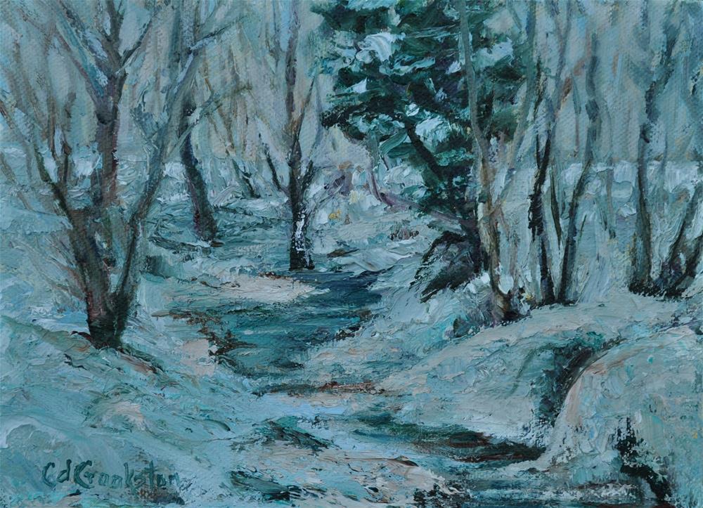 """Snowy River"" original fine art by Catherine Crookston"