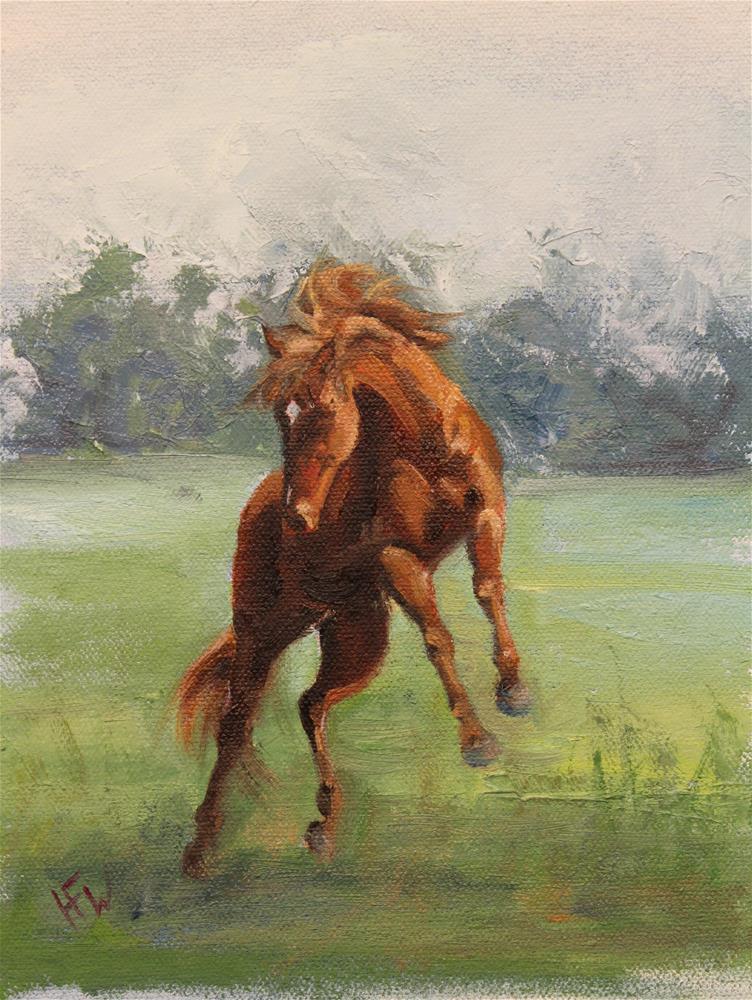 """Wild Heart"" original fine art by H.F. Wallen"