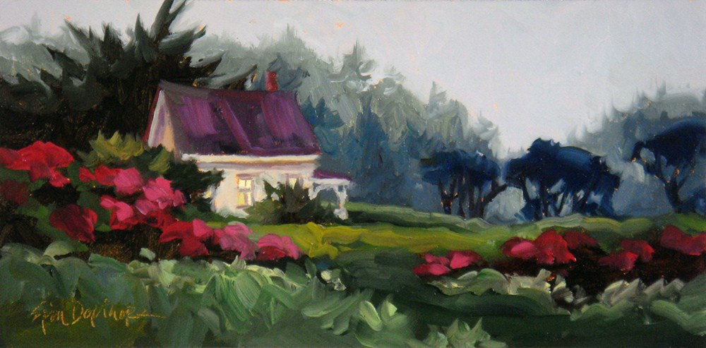 """Misty Mendocino"" original fine art by Erin Dertner"